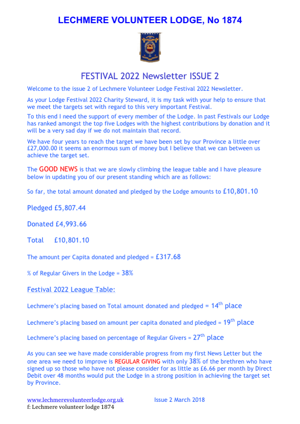 Festival Newsletter Issue 2 March 2018